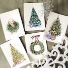 Акварельные открытки новый год