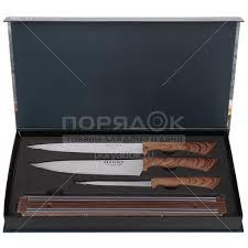 <b>Набор ножей</b> стальных Daniks Платан YW-A286-<b>2</b>, 4 <b>предмета</b> в ...