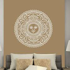 sun wall decal trendy designs: sun wall decal moon sun ethnical symbol stars wall decals vinyl