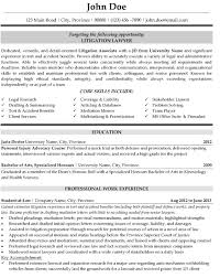 Litigation Lawyer Resume Sample & Template