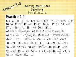 6 solving multi step equations chapter 2 algebra i solving equations ppt