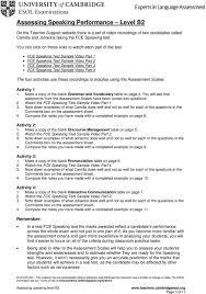 assessing speaking performance level b2 pdf fce speaking test sample video part 1 fce speaking test sample video part 2 fce speaking