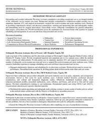 essay on medical assistant Physician Assistant Sample Resume