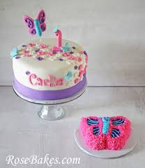 Flutterbies Butterflies 1st Birthday Cake Smash