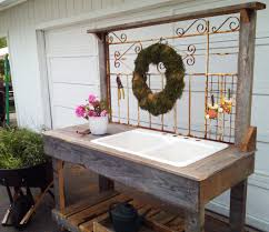 Potting Benches Potting Bench With Sink Rustic Potting Benches With Sinks White