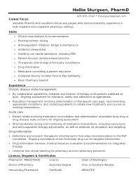 Objective For Pharmacy Resume Pharmacist Resume Sample Pharmacy Intern Resume Objective Examples