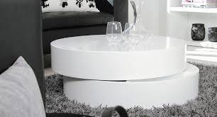 round white coffee table storage