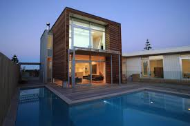 Architecture:Excelent Architectural House Design With Wooden Facade  Exsposed And Minimalist On Shape Building Architectural