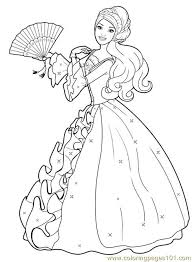Small Picture Barbie Princess Colouring Pages 2 Coloring Page Free Barbie