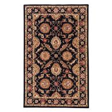 jet black 12 ft x 18 ft oriental area rug