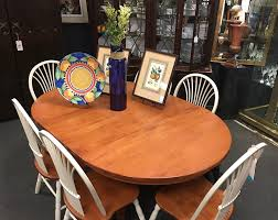 cherry milo shaker style round dining table w 8 chairs 2 leaves