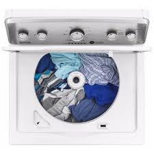Top Load Washers With Agitators Mvwc416fw Maytag 36 Cu Ft Top Load Washer With Powerwashar Cycle