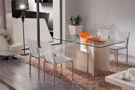 nature travertine dining table with