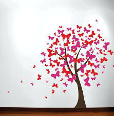 tree decals erfly blossom tree wall decal corner tree decals for nursery