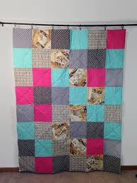 Items similar to Graduation Quilts for Sale Modern Unique Colorful ... & Items similar to Graduation Quilts for Sale Modern Unique Colorful Blanket  Pink Purple Turquoise Gray Beige on Etsy Adamdwight.com