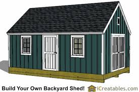 16x20 colonial style shed plans build