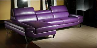 Sectionals >> Leather Sectionals >> Purple Leather
