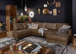 Sofa Wohnlandschaft London Antik Optik Farbe Camelbraun