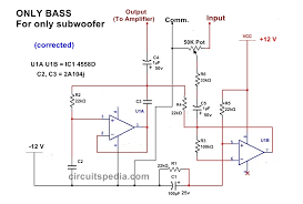 subwoofer bass circuit for player