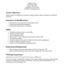 Resume Objective Administrative Assistant Examples Entry Level Administrative Assistant Resume Objective Examples 60 3