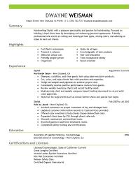 hairdresser resume tk hairdresser resume