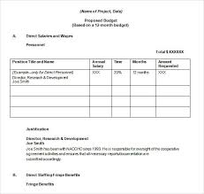 Sample Budget Proposal Template Zoroblaszczakco Intended For Budget