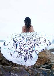 Dream Catcher Blankets Dream Catcher Printed Round Beach Blanket Fairyseason 2
