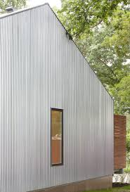 view in gallery details of the corrugated metal wall