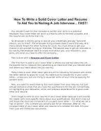How To Write A Good Cover Letter For A Resume Tips For Cover Letters Writing Letter You Who Are Confused About 99