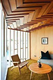 modern interiors could use a touch of wood on a ceiling