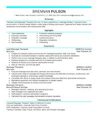 create my resume massage therapist resume template