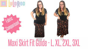 Size Chart Lularoe Maxi Lularoe Maxi Skirt Fit Guide With Plus Size Try On And Twirling