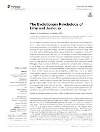the evolutionary psychology of envy and