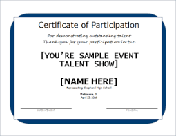 Performance Certificate Sample Excellent Performance Certificate Document Hub