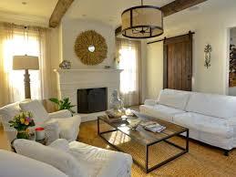 sliding barn door in living room