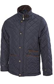 VEDONEIRE Mens Quilted Fleece lined Jacket (3059 NAVY) blue padded ... & VEDONEIRE Mens Fleece lined Quilted Jacket (3059) NAVY SMALL Adamdwight.com