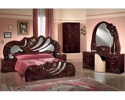 Mahogany Bedroom Suite Bedroom Set Mahogany Finish Made In Italy 44b8411m