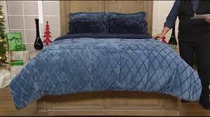 Cozelle® Embossed Velvet & Berber Down Alternative Reversible 3-Piece Comforter Set