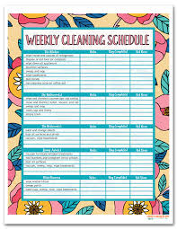cleaning schedule printable i should be mopping the floor free printable house cleaning schedule