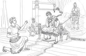 Daniël Legt De Droom Van Nebukadnezar Uit Kleurplaat Gratis
