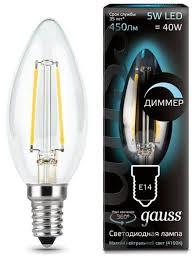 Купить Лампа светодиодная gauss E14, C35, 5Вт по низкой цене ...