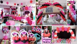 Pink And Black Minnie Mouse Decorations Cebu Balloons And Party Supplies Maranga