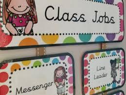 Class Jobs Hanging Chart Rainbow Pop