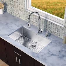 Most Reliable Kitchen Faucets Vigo Brant Single Handle Pull Down Spray Kitchen Faucet Reviews