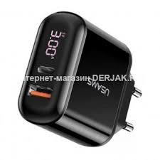 Сетевое <b>зарядное устройство USAMS US-CC085</b> T23 QC3.0+ ...