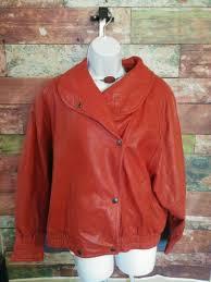 women s preston york vintage red leather jacket medium