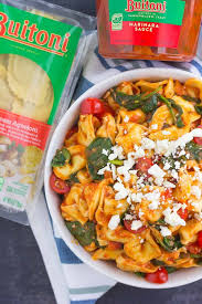 this spinach and feta tortellini is fresh flavorful and ready in less than 30