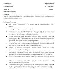 Sample System Analyst Resume Business Template Free Samples Examples ...