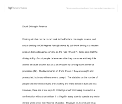 essay on drinking and driving co drunk driving essay