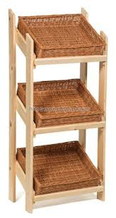 "Bakery Display Stands Farmer's Market 100""w Bakery Bread Display Rack 100 Shelves 59"